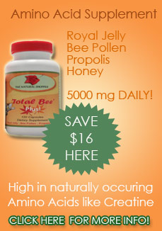 natural energy from amino acids in royal jelly supplements