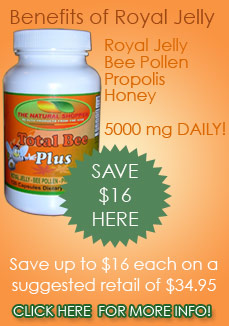 total bee plus with royal jelly bee pollen propolis
