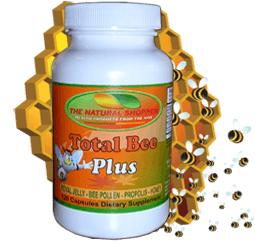 Total Bee Plus with royal jelly, bee pollen, propolis and honey powder