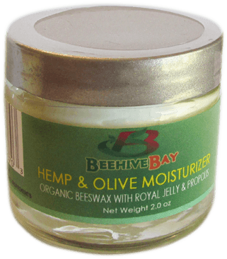 Hemp and Olive Moisturizer with organic beeswax and royal jelly