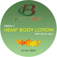 omega 3 hemp body lotion with royal jelly