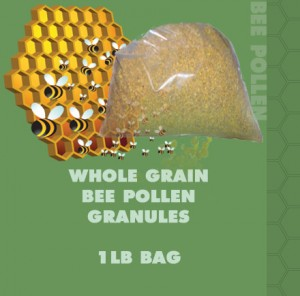 whole grain bee pollen granules sold by the pound